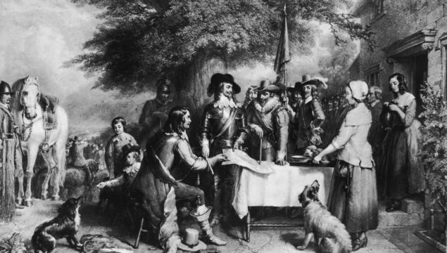 King Charles I (1600 - 1649) on the eve of the Battle of Edgehill in Oxfordshire, the first engagement of the English Civil War. Original Artwork: After Charles Landseer. (Photo by Rischgitz/Getty Images)