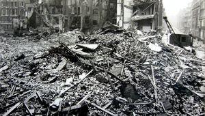Hallam Street, London: after the World War II Blitz.