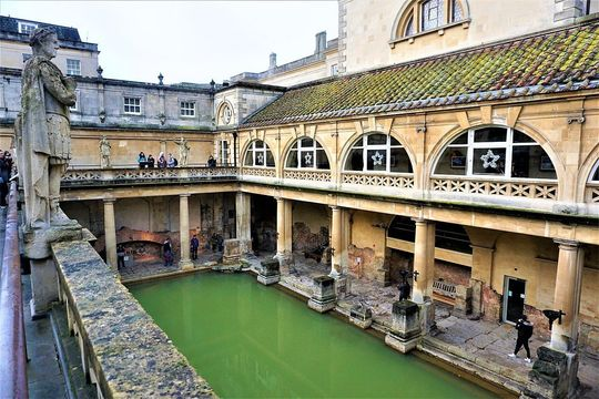 The Roman bath and temple complex, in Bath, Somerset.