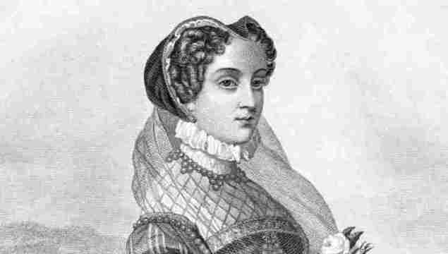 Engraving from 1885 featuring Mary Queen of Scots who was the Queen of Scotland. She lived from 1542 until 1587.