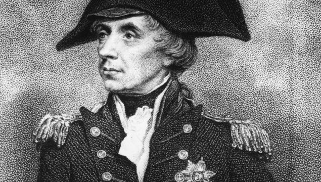 Circa 1805: Viscount Horatio Nelson (1758 - 1805), British admiral, wearing the uniform in which he was fatally wounded.