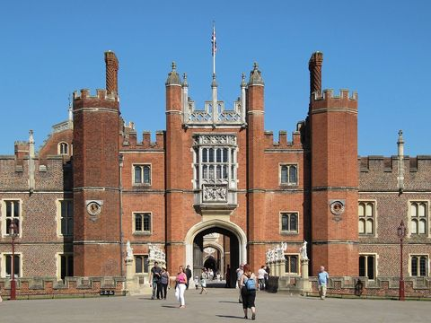 The Great Gate at Hampton Court Palace.