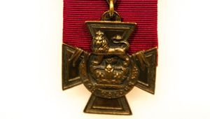 The Victoria Cross medal.