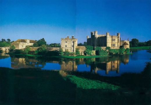 Seen from across the moat, Leeds Castle looks more suited to impressing visitors with its idyllic charm than to repelling invaders intent on destruction.