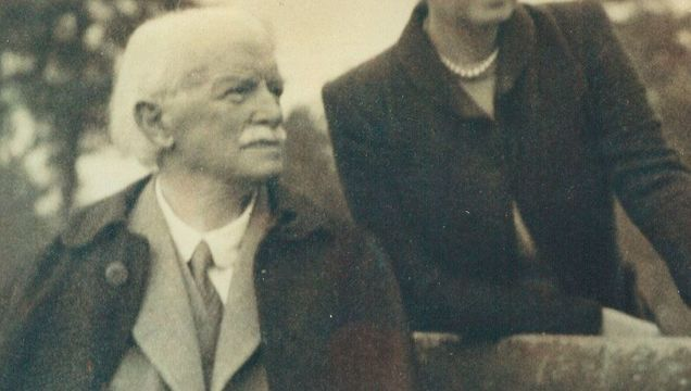 Former prime minister and 20th-century statesman David Lloyd George reflects here with Frances Stevenson, his longtime secretary, and mistress. It is 1943, the year they were married