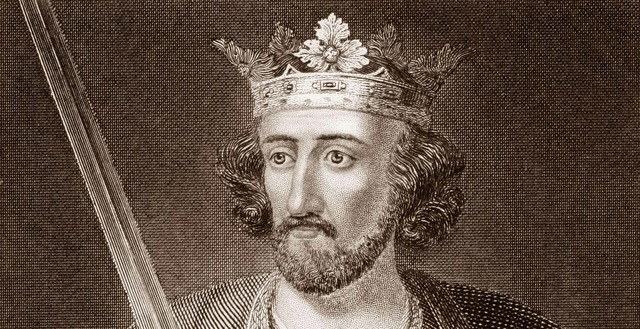 Edward I (1239-1307) on engraving from 1845. King of England during 1272-1307. Published in London by J.S.Virtue.