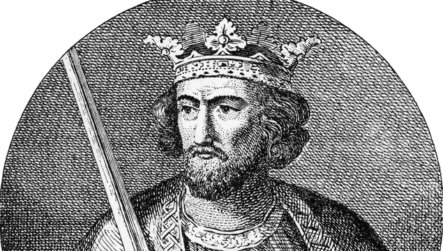 Edward I, King of England, 1239-1307, Engraving Rare and beautifully executed Engraved illustration of Edward I, King of England, 1239-1307, Engraving Engraving from Great Men and Famous Women: A Series of Pen and Pencil Sketches, by Charles F. Horne and Published in 1894. Copyright has expired on this artwork. Digitally restored.