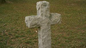 The gravestone of Bartholomew Gosnold.