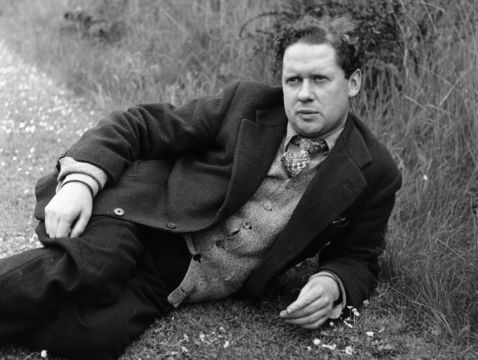 The Welsh poet and writer Dylan Thomas.