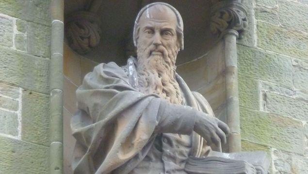 John Knox statue at Haddington.