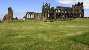 Ruined Whitby Abbey, North Yorkshire.