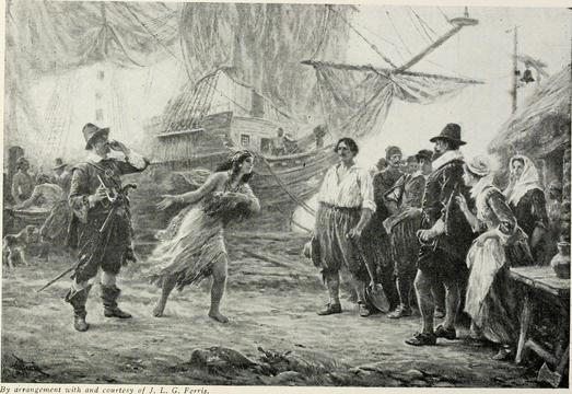 History of the Pilgrims and Puritans, their ancestry and descendants; basis of Americanization.