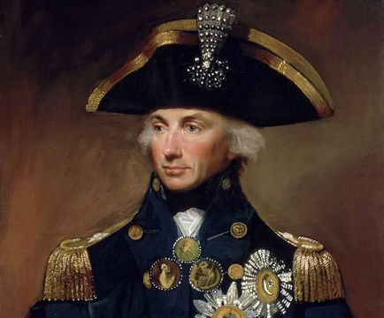 A portrait of Horatio Nelson, by Lemuel Francis Abbott.