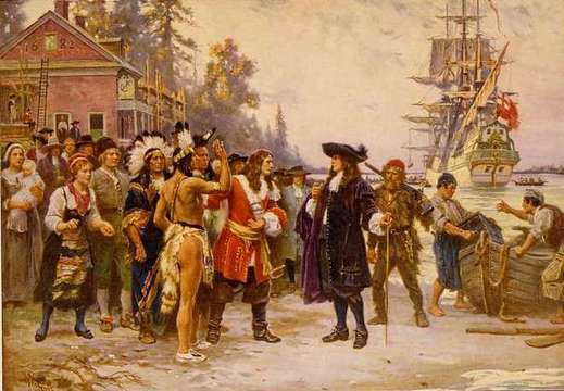 The landing of William Penn, painted by J.L.G. Ferris