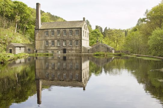Gibson Mill, a 19th century former cotton mill in secluded woodland at Hardcastle Crags near Hebden Bridge, West Yorkshire, England.Visit my Yorkshire Lightbox for more images from around the county of Yorkshire.
