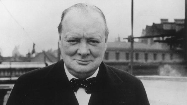 British Prime Minister Winston Churchill.