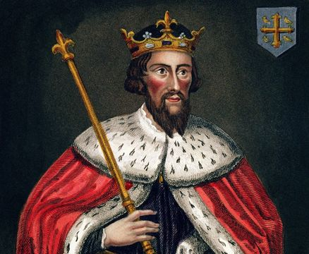Alfred the Great (849-99), after a painting in the Bodleian Gallery.