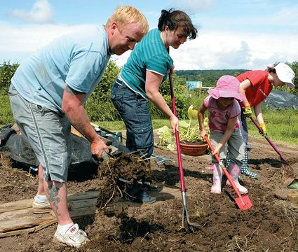 For those town and city dwellers without a cottage garden, growing fruit and veg on a garden allotment is a long-standing British tradition, and a family activity.