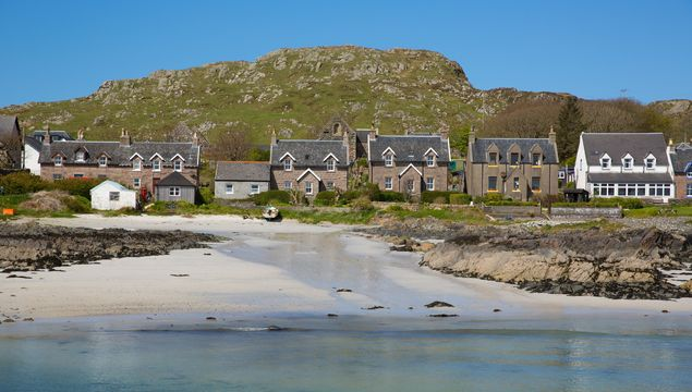 Iona is an Inner Hebrides Scottish island off the Isle of Mull west coast of Scotland, it\'s a popular tourist destination known for the abbey