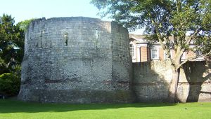 Roman Fortifications in the Museum Gardens of York.