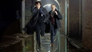 A promo shot for the latests reincarnation of Sherlock Holmes, Sherlock from the BBC.