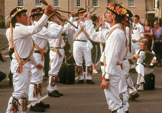 """Dating back at least to the 1400s, morris dancing is a uniquely English folk art, danced by """"sides"""" to the music of fiddles and concertinas."""