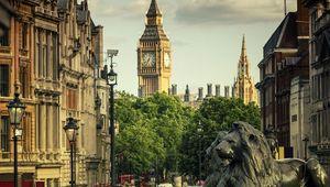 A view of Big Ben taken from Trafalgar Square.