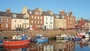 There are several harbor towns along the North Sea coast from Tayside to Aberdeen supporting small fishing fleets in the North Sea. Arbroath's claim to fame came way back in 1320.
