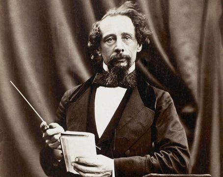The great British writer, Charles Dickens.