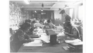 Codebreakers at work at Bletchley Park, during World War II.