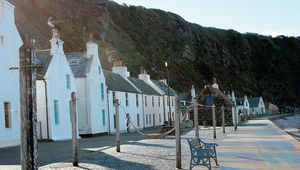 Pennan's street is quiet these days. Most of its cottages are second homes or holiday lets.