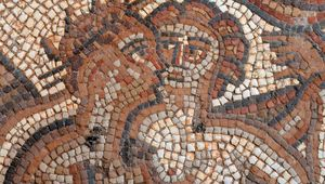 Detail from a mosaic at Chedworth Roman Villa.