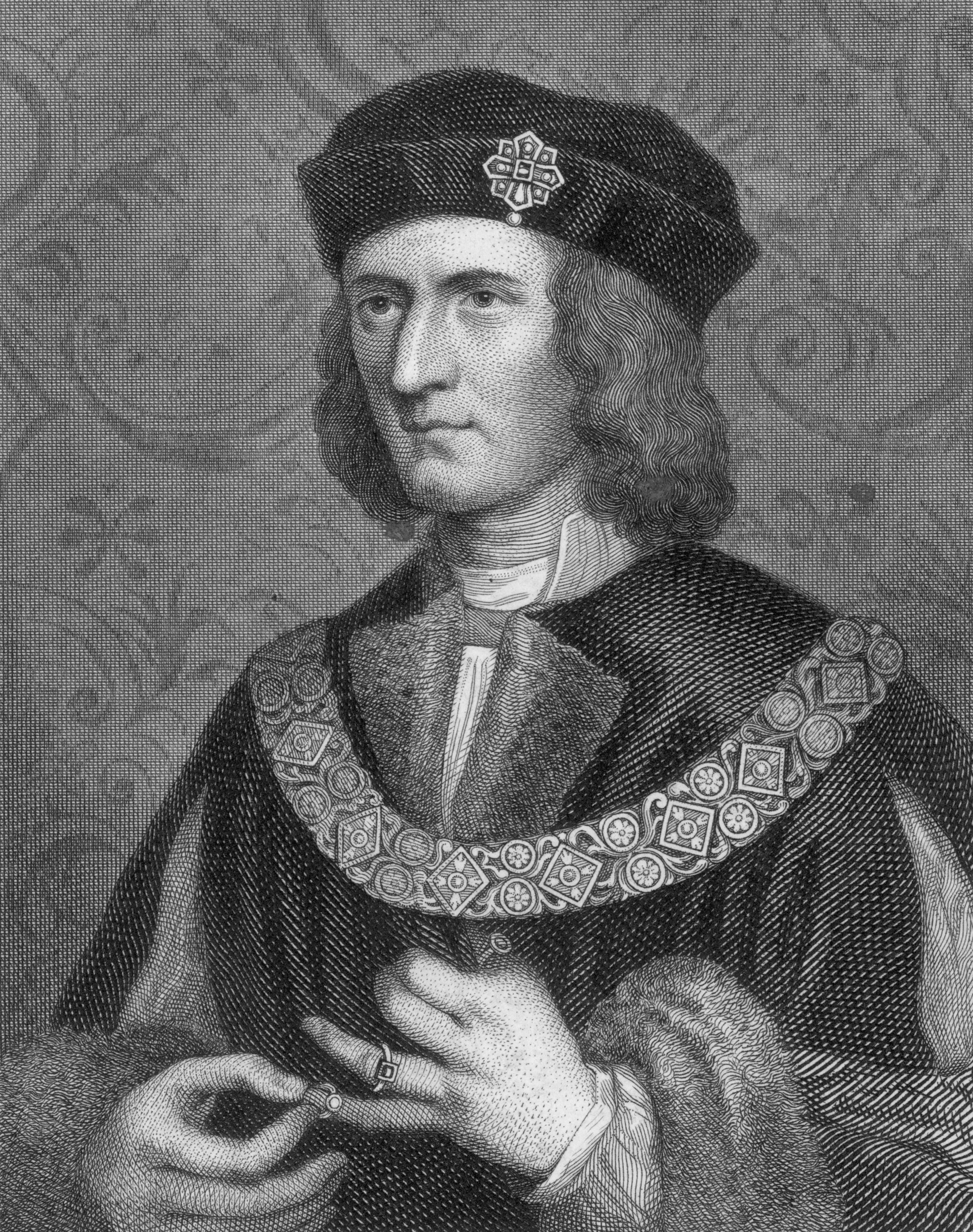 Circa_1480__king_richard_iii__1452_-_1485__wearing_a_chain_of_office_and_playing_with_a_ring_on_his_little_finger.__photo_by_hulton_archivegetty_images_