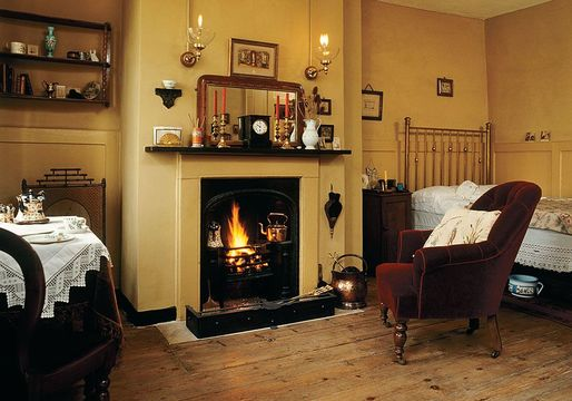 This almshouse room at the Geffrye Museum depicts life in the 1880s.