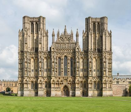 Wells Cathedral, West front exterior.