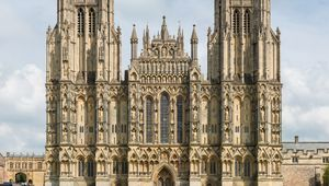 Thumb wells cathedral west front exterior  uk   diliff
