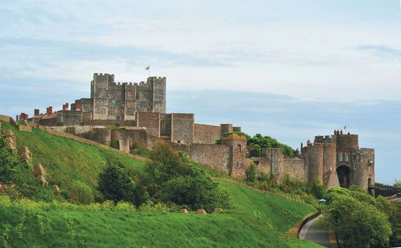 The largest castle in England, Dover Castle has guarded the narrow channel straits since the time of the Romans.