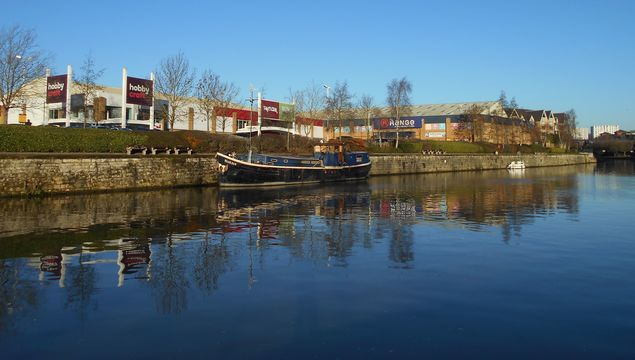 River Medway at Maidstone, in Kent.