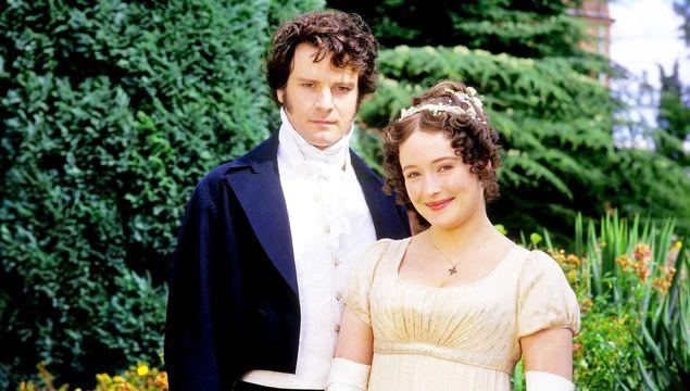 A promo shot for the 1995 BBC mini-series based on Jane Austen\'s Pride and Prejudice.