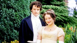 A promo shot for the 1995 BBC mini-series based on Jane Austen\'s Pride and Prejudice.