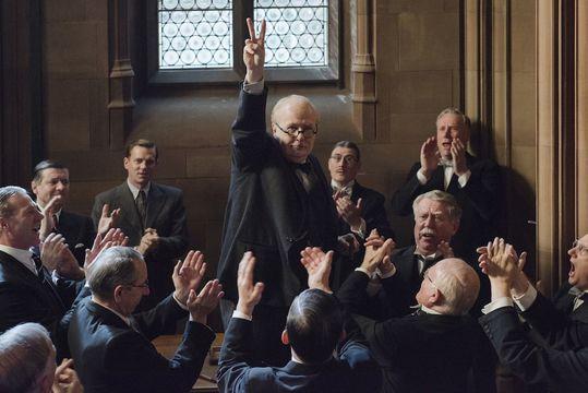 Gary Oldman as Winston Churchill in The Darkest Hour.