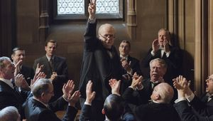 Gary Oldman as Winston Churchill in The Darkest Hour.