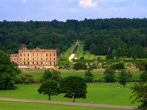 Chatsworth House and Gardens, in Derbyshire.