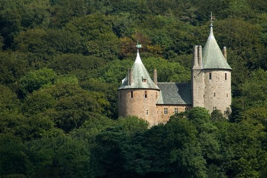 Castell Coch (Red Castle) near Cardiff, South Wales. Built in the 1870s