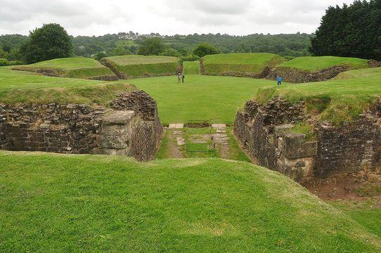Amphitheater at Caerleon.