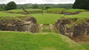 Amphitheater at Caerleon.