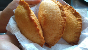 The delicious Cornish pasty.