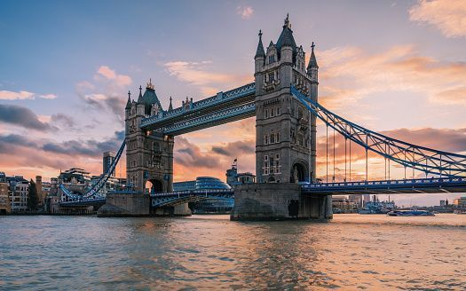 Tower Bridge, in London.