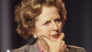 The Iron Lady, British Prime Minister Margaret Thatcher.