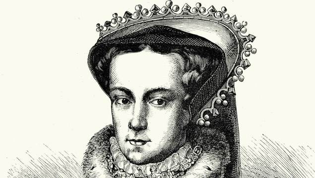 Portrait of Mary I of England, Queen of England and Ireland from July 1553 until her death